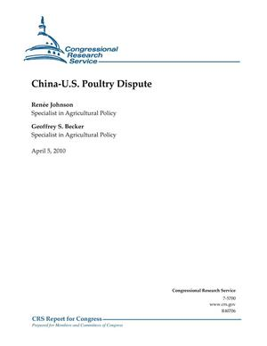 Primary view of object titled 'China-U.S. Poultry Dispute'.
