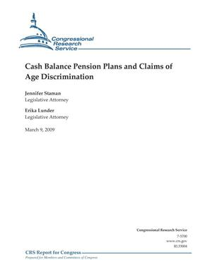 Primary view of object titled 'Cash Balance Pension Plans and Claims of Age Discrimination'.