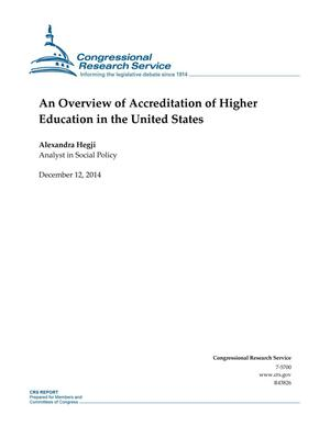 Primary view of object titled 'An Overview of Accreditation of Higher Education in the United States'.