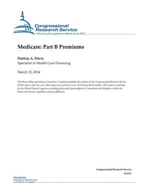 Primary view of object titled 'Medicare: Part B Premiums'.