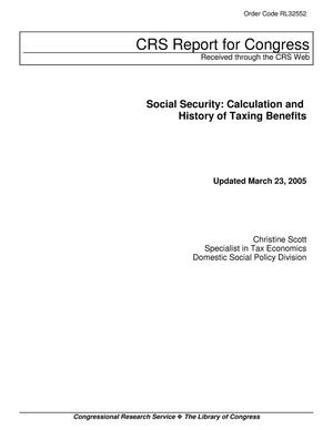 Primary view of object titled 'Social Security: Calculation and History of Taxing Benefits'.