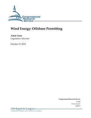 Primary view of object titled 'Wind Energy: Offshore Permitting'.