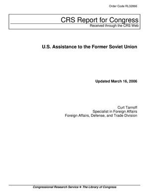 Primary view of object titled 'U.S. Assistance to the Former Soviet Union'.