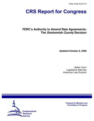Primary view of object titled 'FERC's Authority to Amend Rate Agreements: The Snohomish County Decision'.