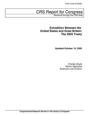 Primary view of object titled 'Extradition Between the United States and Great Britain: The 2003 Treaty'.
