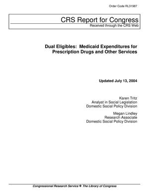 Primary view of object titled 'Dual Eligibles: Medicaid Expenditures for Prescription Drugs and Other Services'.