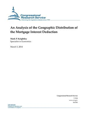 Primary view of object titled 'An Analysis of the Geographic Distribution of the Mortgage Interest Deduction'.