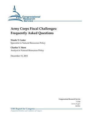 Primary view of object titled 'Army Corps Fiscal Challenges: Frequently Asked Questions'.