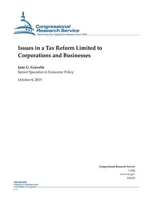 Primary view of object titled 'Issues in a Tax Reform Limited to Corporations and Businesses'.
