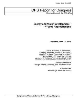 Primary view of object titled 'Energy and Water Development: FY2008 Appropriations'.