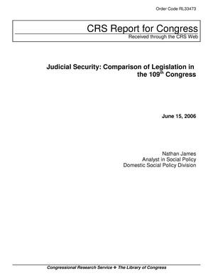Primary view of object titled 'Judicial Security: Comparison of Legislation in the 109th Congress'.