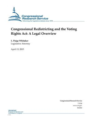 Primary view of object titled 'Congressional Redistricting and the Voting Rights Act: A Legal Overview'.