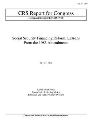 Primary view of object titled 'Social Security Financing Reform: Lessons From the 1983 Amendments'.
