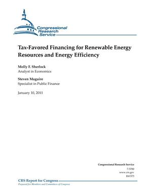 Primary view of object titled 'Tax-Favored Financing for Renewable Energy Resources and Energy Efficiency'.