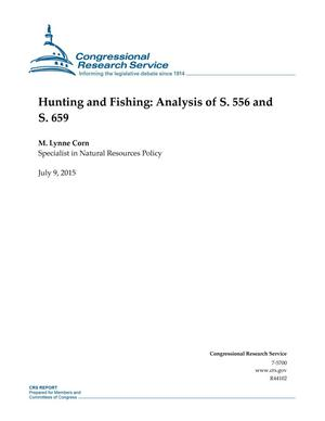 Primary view of object titled 'Hunting and Fishing: Analysis of S. 556 and S. 659'.