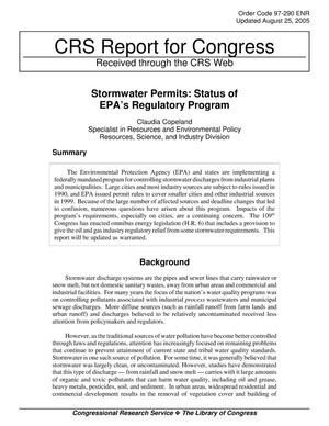 Primary view of object titled 'Stormwater Permits: Status of EPA's Regulatory Program'.