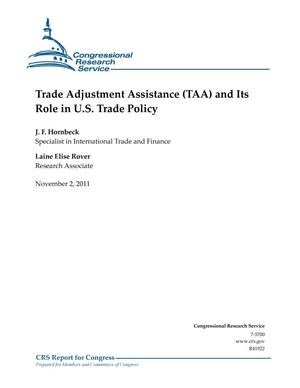 Primary view of object titled 'Trade Adjustment Assistance (TAA) and Its Role in U.S. Trade Policy'.