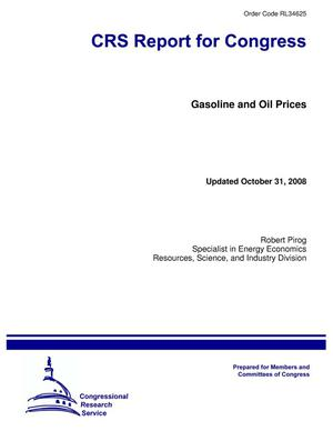 Primary view of object titled 'Gasoline and Oil Prices'.