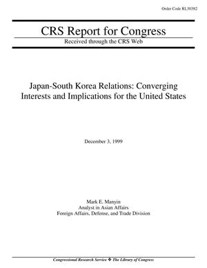 Primary view of object titled 'Japan-South Korea Relations: Converging Interests and Implications for the United States'.