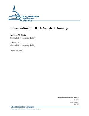 Primary view of object titled 'Preservation of HUD-Assisted Housing'.