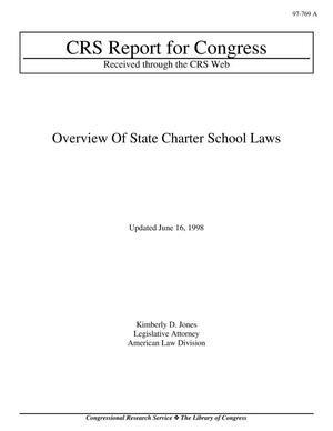 Primary view of object titled 'Overview Of State Charter School Laws'.