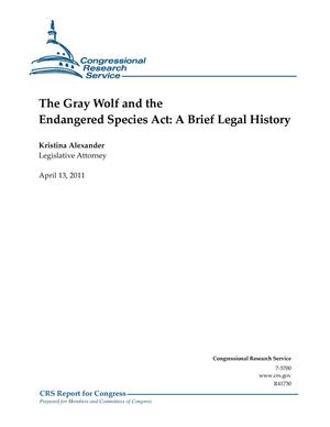 Primary view of object titled 'The Gray Wolf and the Endangered Species Act: A Brief Legal History'.