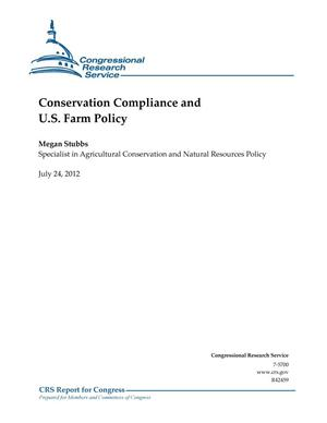 Primary view of object titled 'Conservation Compliance and U.S. Farm Policy'.