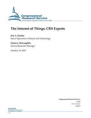 Primary view of object titled 'The Internet of Things: CRS Experts'.