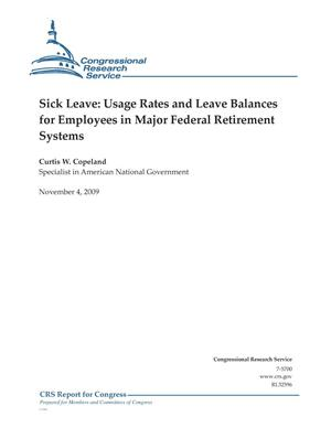 Primary view of object titled 'Sick Leave: Usage Rates and Leave Balances for Employees in Major Federal Retirement Systems'.