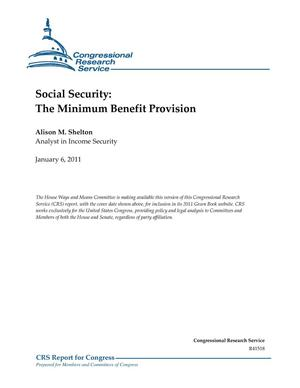 Primary view of object titled 'Social Security: The Minimum Benefit Provision'.