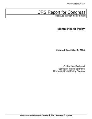 Primary view of object titled 'Mental Health Parity'.