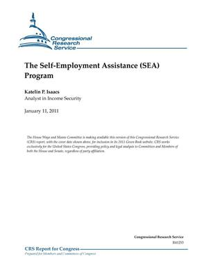 Primary view of object titled 'The Self-Employment Assistance (SEA) Program'.