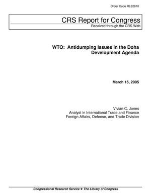 Primary view of object titled 'WTO: Antidumping Issues in the Doha Development Agenda'.