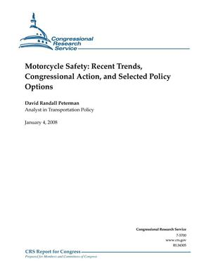 Primary view of object titled 'Motorcycle Safety: Recent Trends, Congressional Action, and Selected Policy Options'.