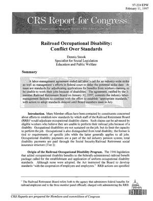 Primary view of object titled 'Railroad Occupational Disability: Conflict Over Standards'.