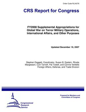 Primary view of object titled 'FY2008 Supplemental Appropriations for Global War on Terror Military Operations, International Affairs, and Other Purposes'.