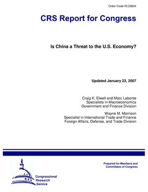 Primary view of object titled 'Is China a Threat to the U.S. Economy?'.