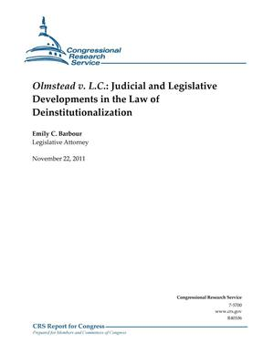 Primary view of object titled 'Olmstead v. L.C.: Judicial and Legislative Developments in the Law of Deinstitutionalization'.