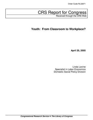 Primary view of object titled 'Youth: From Classroom to Workplace?'.