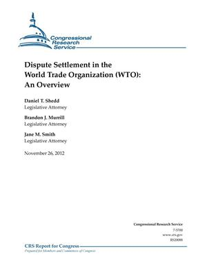 Primary view of object titled 'Dispute Settlement in the World Trade Organization (WTO): An Overview'.