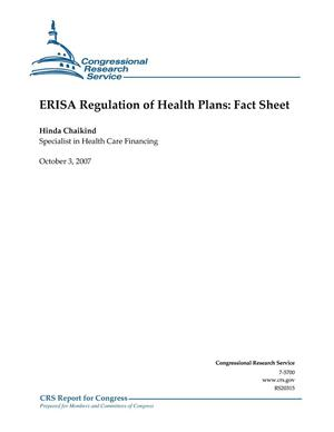 Primary view of object titled 'ERISA Regulation of Health Plans: Fact Sheet'.