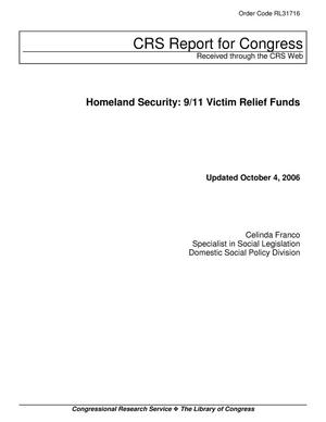 Primary view of object titled 'Homeland Security: 9/11 Victim Relief Funds'.