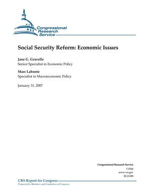 Primary view of object titled 'Social Security Reform: Economic Issues'.