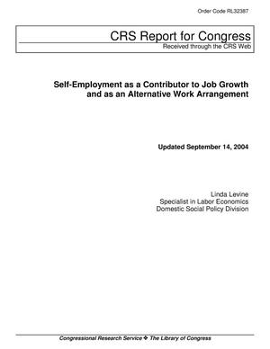 Primary view of object titled 'Self-Employment as a Contributor to Job Growth and as an Alternative Work Arrangement'.