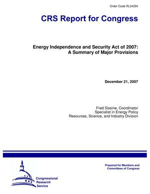 Primary view of object titled 'Energy Independence and Security Act of 2007: A Summary of Major Provisions'.