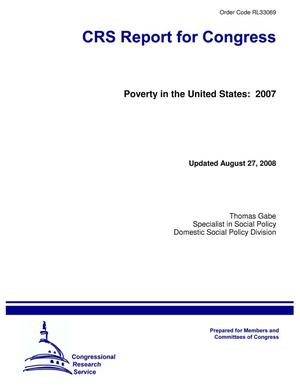 Primary view of object titled 'Poverty in the United States: 2007'.