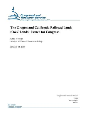 Primary view of object titled 'The Oregon and California Railroad Lands (O&C Lands): Issues for Congress'.