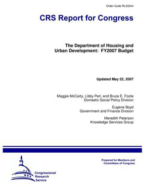 Primary view of object titled 'The Department of Housing and Urban Development: FY2007 Budget'.