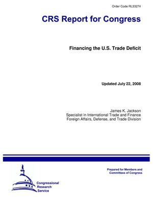 Primary view of object titled 'Financing the U.S. Trade Deficit'.