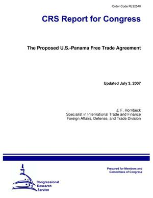 Primary view of object titled 'The Proposed U.S.-Panama Free Trade Agreement'.